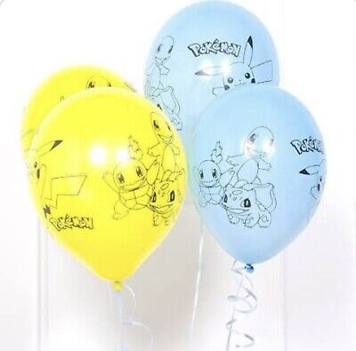 """Set Of 7 Pokemon Theme Pikachu 12"""" Latex Party Balloons Great For Party Fun. • 2.99£"""