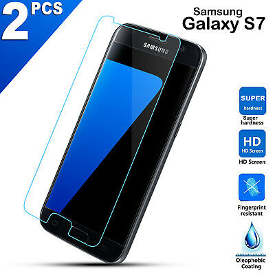 AU4.49 • Buy 2X Genuine 9H Tempered Glass Screen Protector For Samsung Galaxy S7 G930