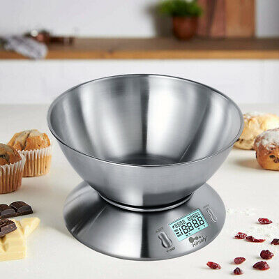 £17.99 • Buy 5kg Electronic Digital Kitchen Scale Weighing Food With Bowl Baking Cooking