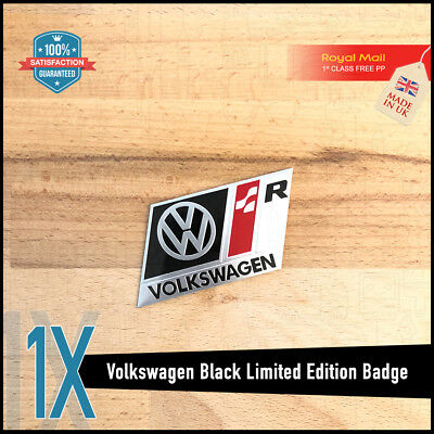 Volkswwagen Vw R Line Sport Black Boot Wing Badge Parts Tdi Gti Gtd S Golf Tsi  • 5.95£