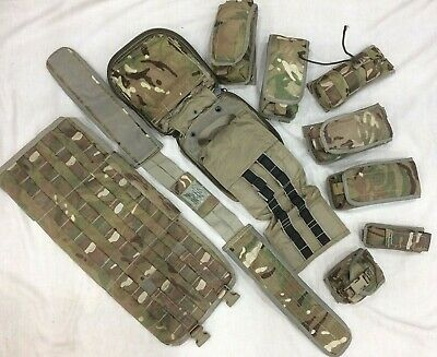 £37.95 • Buy Genuine British Forces MTP Mixed Osprey Pouches, Belt Package (10 Items)