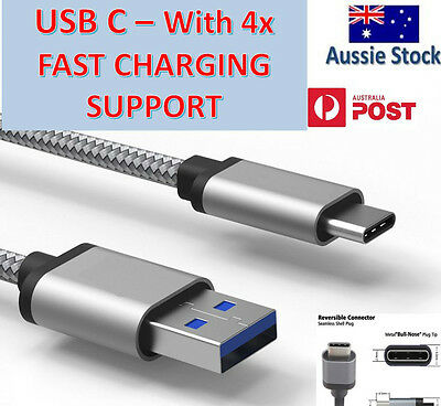 AU5.95 • Buy Type-C Samsung Galaxy S20 S9 S8 Pixel 4 3 USB-C 3.1 Fast Charger Charging Cable