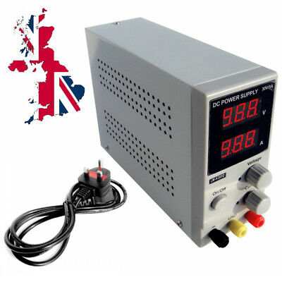 Variable Adjustable Lab DC Bench Power Supply 0-30V 0-5A K305D Switching UK • 48.86£