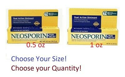 Neosporin Antibiotic Maximum Strength Pain Relief 0.5oz / 1 Oz - YOU CHOOSE • 6.25£