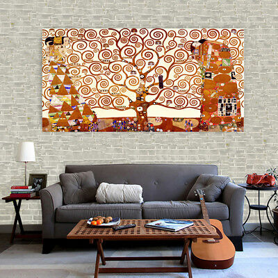 $ CDN10.60 • Buy Art Silk Canvas Poster Vintage Klimt The Tree Of Life Painting Wall Decor S136