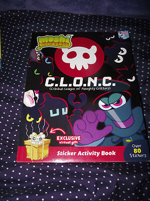 BRAND NEW Paperback Book Moshi Monsters C. L. O. N. C. Sticker Activity Book • 3.57£