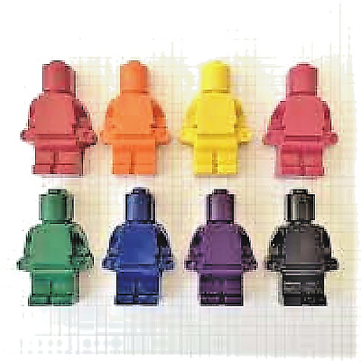 $9.99 • Buy Handmade Children's Party Favors LEGO® Inspired Robot Crayons (10 Bags - 4 Each)