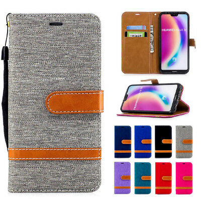 AU17.99 • Buy For Huawei Mate 20 Pro Lite Y6 Y5 Y9 Luxury Wallet Leather Flip Denim Case Cover