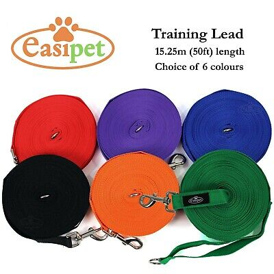 """£5.99 • Buy Dog Pet Puppy Training Lead Leash 50ft 15m Long Obedience Recall 1"""" Wide Easipet"""