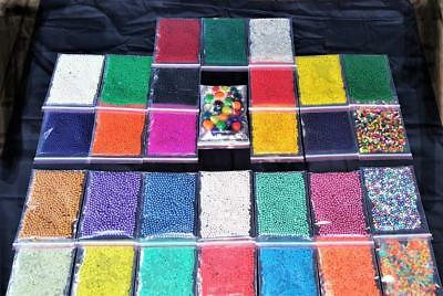AU42.98 • Buy MEGA Orbeez Water Beads SAMPLE Pack! 26 X 25g Bags! Crystal Soil Jelly Gel Ball