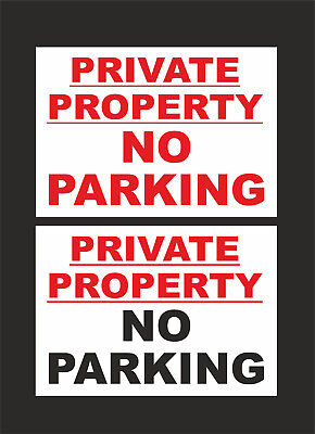 £1.35 • Buy Private Property No Parking Sign - 2 Designs - All Sizes & Materials