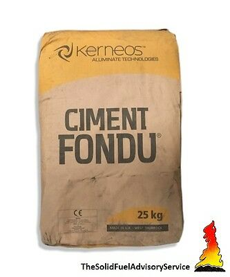 2 Bags Of Ciment Fondu 25kg - Fire Cement - Kiln - Stove- Furnace- Pizza Oven • 80£