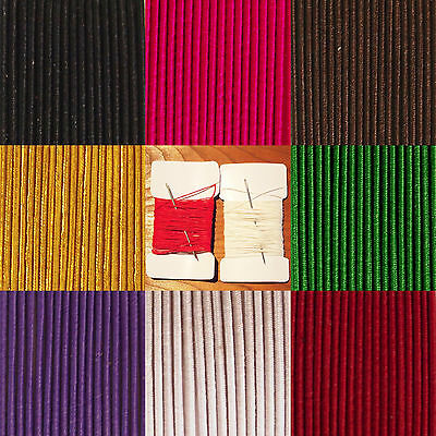 $ CDN6.27 • Buy Elastic Round Cord, 2 Mm Thick, 100% Polyester Cover, Various Colours