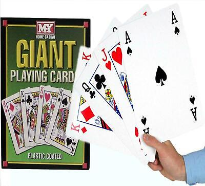 New A4 Giant Big Playing Cards Deck Family Party Game Outdoor Garden Bbq Magic • 7.95£