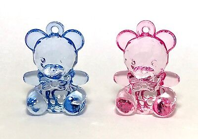 £6.50 • Buy Large Acrylic Teddy Bear Charm New Baby Embellishment Baby Shower Charms 6 Or 9