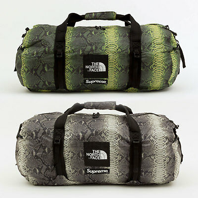$ CDN332.52 • Buy Supreme SS18 The North Face Snakeskin Flyweight Duffle Bag Camp Cap Tee Hat Logo