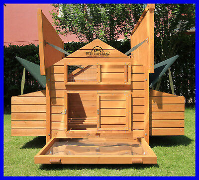 Beaumont Large Deluxe Chicken Coop Hen Poultry House Rabbit Hutch Run Nest • 299.99£