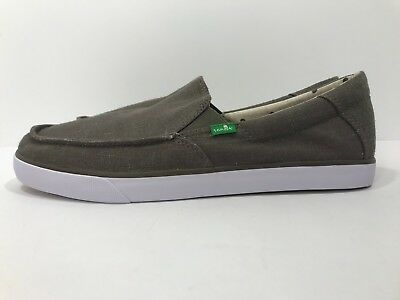 *New* Sanuk Sideline Linen Brindle Sidewalk Surfer Slip On Men's Sizes 9,10 & 13 • 32.78£