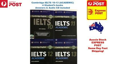 £37.76 • Buy Sell 100% New CAMBRIDGE IELTS Books 10,11,12,13 With DVD Academic