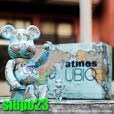 $459.99 • Buy Medicom 400% + 100% Bearbrick ~ Atmos X UBIQ Earth Be@rbrick