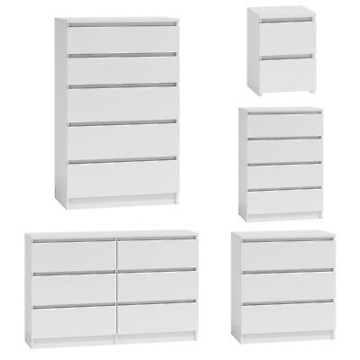 Chest Of Drawers White Bedroom Furniture Hallway Tall Wide Storage 3|4|5|6 Draws • 35£