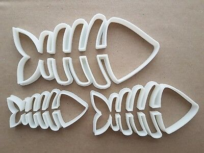 Fish Bones Skeleton Sea Shape Cookie Cutter Dough Biscuit Pastry Fondant Sharp • 7.19£