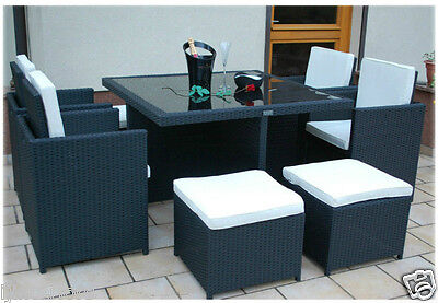 View Details CUBE RATTAN GARDEN FURNITURE SET CHAIRS SOFA TABLE OUTDOOR PATIO WICKER 8 SEATER • 299.00£