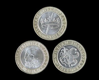 Full Set Of Uncirculated Shakespeare £2 Two Pound Coins - Choose Your Coin • 6.99£
