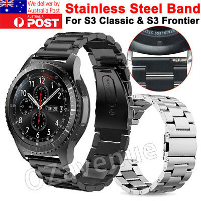 AU10.95 • Buy Stainless Steel Metal Watch Band Strap For Samsung Gear S3 Classic/ Frontier New
