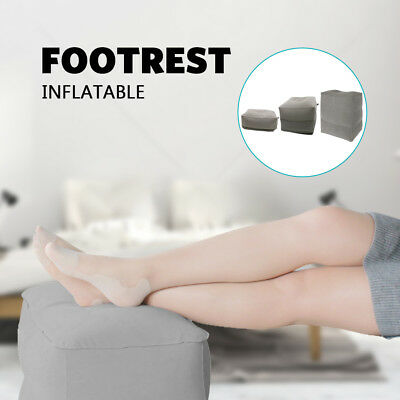 AU16.88 • Buy Relax Inflatable Foot Rest Travel Air Pillow Cushion Office Leg Up Footrest