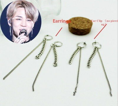 Kpop Jimin Earrings Bangtan Boys Fashion Clip On Ear Stud FR732 • 3.99£