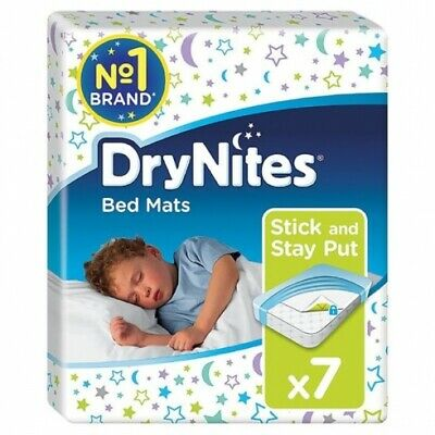 AU73.45 • Buy New Huggies Drynites Disposable Bed Mats 86Cm X 78Cm - White Carton (7 X 4