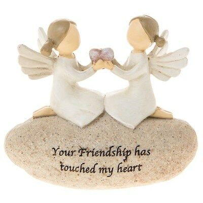 £9.95 • Buy Small Angel Stone Your Friendship Has Touched My Heart Ornament 275205