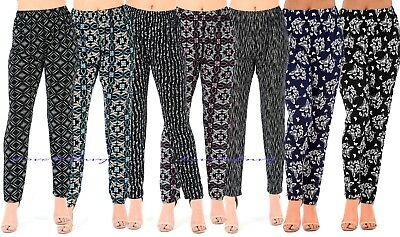 £8.95 • Buy Ladies Summer Straight Leg Tapered Stretch Elasticated Palazzo Trousers UK8-22.