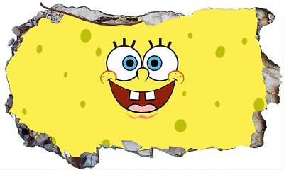 SpongeBob SquarePants 3D Magic Window Wall Art Sticker Self Adhesive Vinyl V7* • 16.50£