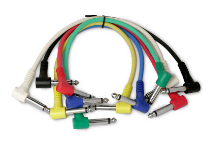 $ CDN14.01 • Buy 6 Mono Right Angled Jack Patch Cables. Guitar Effects FX Pedal Leads Studio Cord