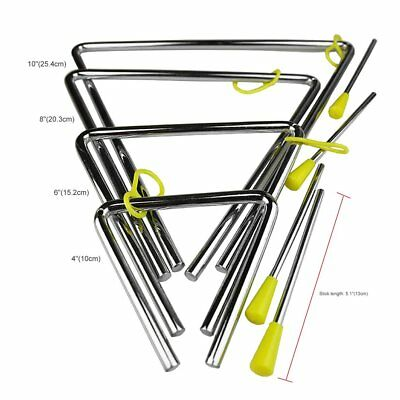 £3.50 • Buy Rhythm Steel Triangle Beater Musical Instruments With Stick Kid Child For Gift