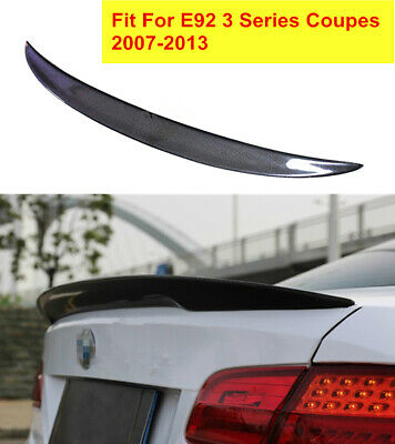 $120 • Buy Carbon Fiber CF Rear Wing Trunk Lip Spoiler Fit For BMW E92 Coupe 328i 335i M3