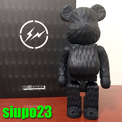 $6799.99 • Buy Medicom 400% Bearbrick ~ Fragment Design Wood Be@rbrick Carved Wooden