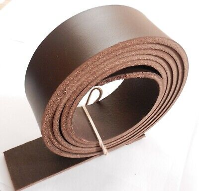 3.5mm Thick Italian Brown Veg Tan Leather Hide Belt Blanks 57  Inch - 145cm Long • 9.49£