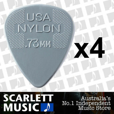 AU3.95 • Buy 4 X Jim Dunlop Nylon Standard Greys .73mm Guitar Picks Plectrums 0.73 Grey