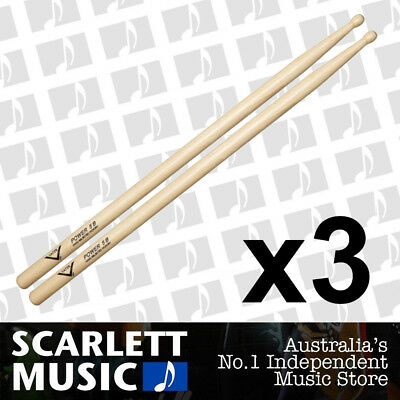 AU52.95 • Buy 3x Vater Power 5B Wood Tip Hickory Drumsticks ( Drum Sticks ) 5-A 5-AW