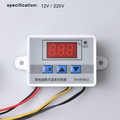 12V 220V Digital LED Temperature Controller Thermostat Control Switch Probe FT • 6.90£