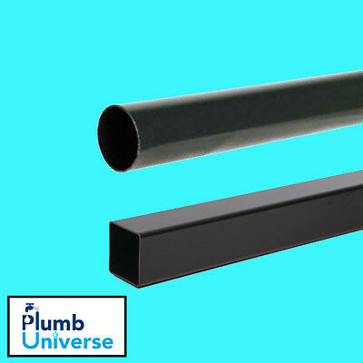 £8.50 • Buy Rainwater Downpipe 1 Metre Lengths Black Square Or Round 68mm Pipe