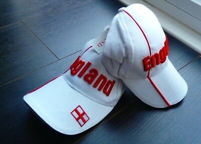Bold England Stitch Baseball Cap. Support England - World Cup 2018(white&red) • 7.99£