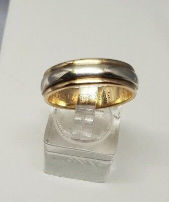 AU400 • Buy 100% Genuine 9ct Yellow & White Gold Peter W Beck Wedding Band Size U 6mm 7.54G
