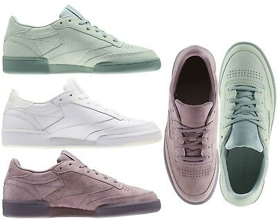 AU72.82 • Buy NEW Reebok Women's Club C 85 Leather/Suede Retro Shoes Sneakers Pink White Green