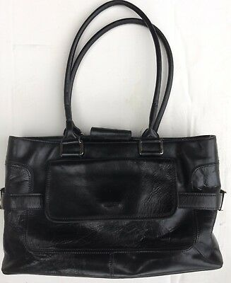 AU22 • Buy Women's Oroton Black Leather Handbag Shoulder Work Tote