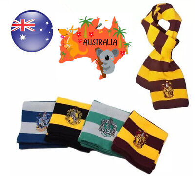 AU8.99 • Buy AU Book Week Harry Potter Gryffindor Ravenclaw Knitted Scarf Costume Accessory