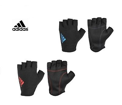 £9.49 • Buy Adidas Essential Half Finger Gloves Weight Lifting Training Gym Fitness Sport